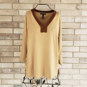 Lauren Ralph Lauren 1X Top V Neck Knit Shirt Plus